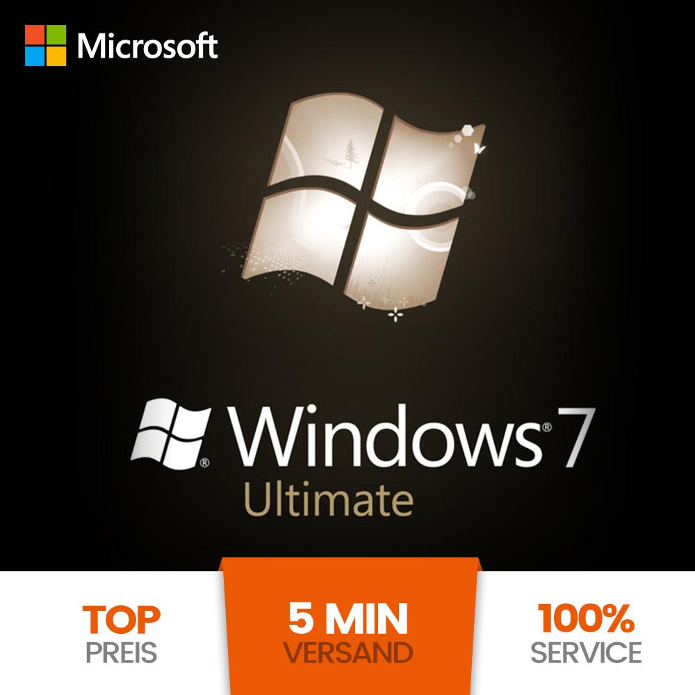 ms microsoft windows 7 ultimate oem 32 64 bit key lizenz vollversion esd. Black Bedroom Furniture Sets. Home Design Ideas